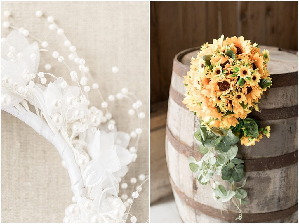 Bridal details from Exploration Acres wedding in Lafayette, Indiana