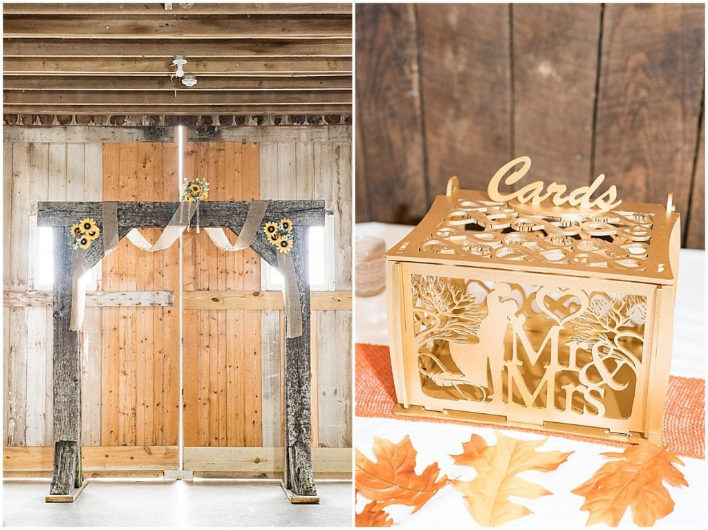 Ceremony details for Exploration Acres wedding in Lafayette, Indiana