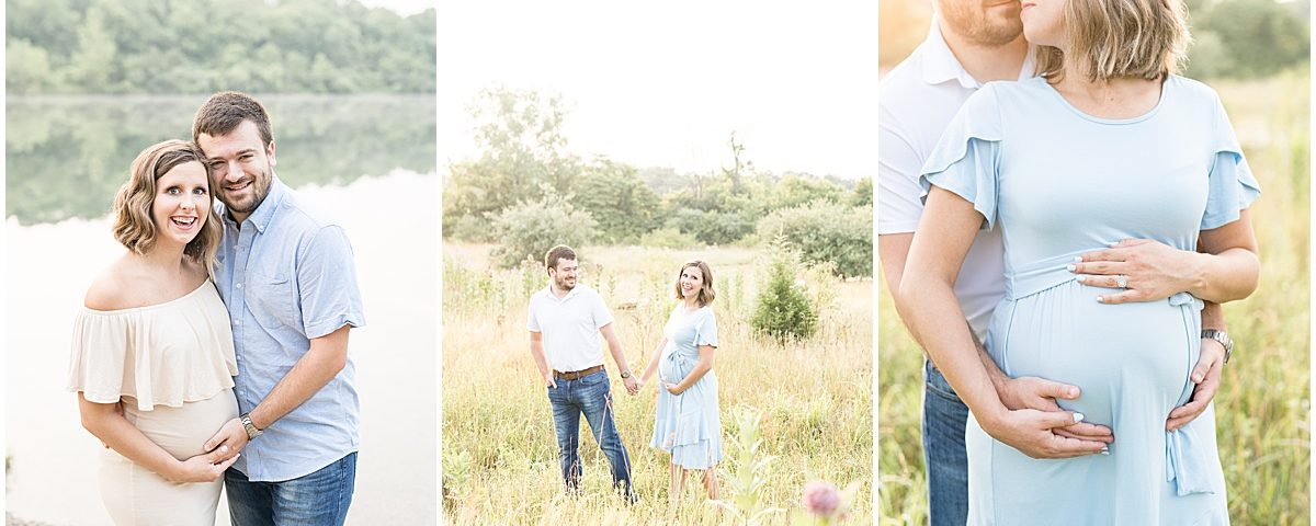 Fairfield Lakes Park Maternity Photos in Lafayette, Indiana