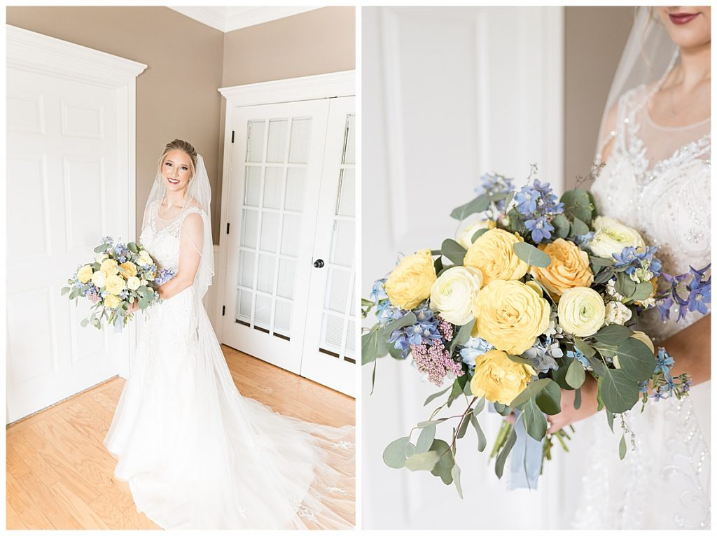 Bridal portraits for Gathering Acres wedding in Lafayette, Indiana