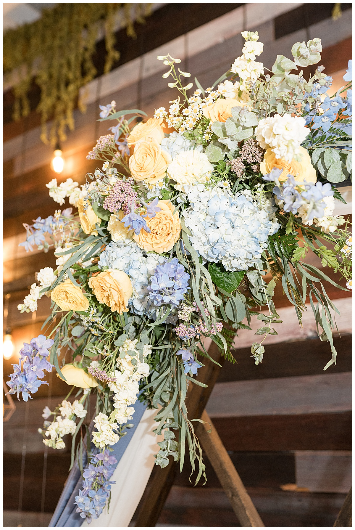 Reception details for Gathering Acres wedding in Lafayette, Indiana