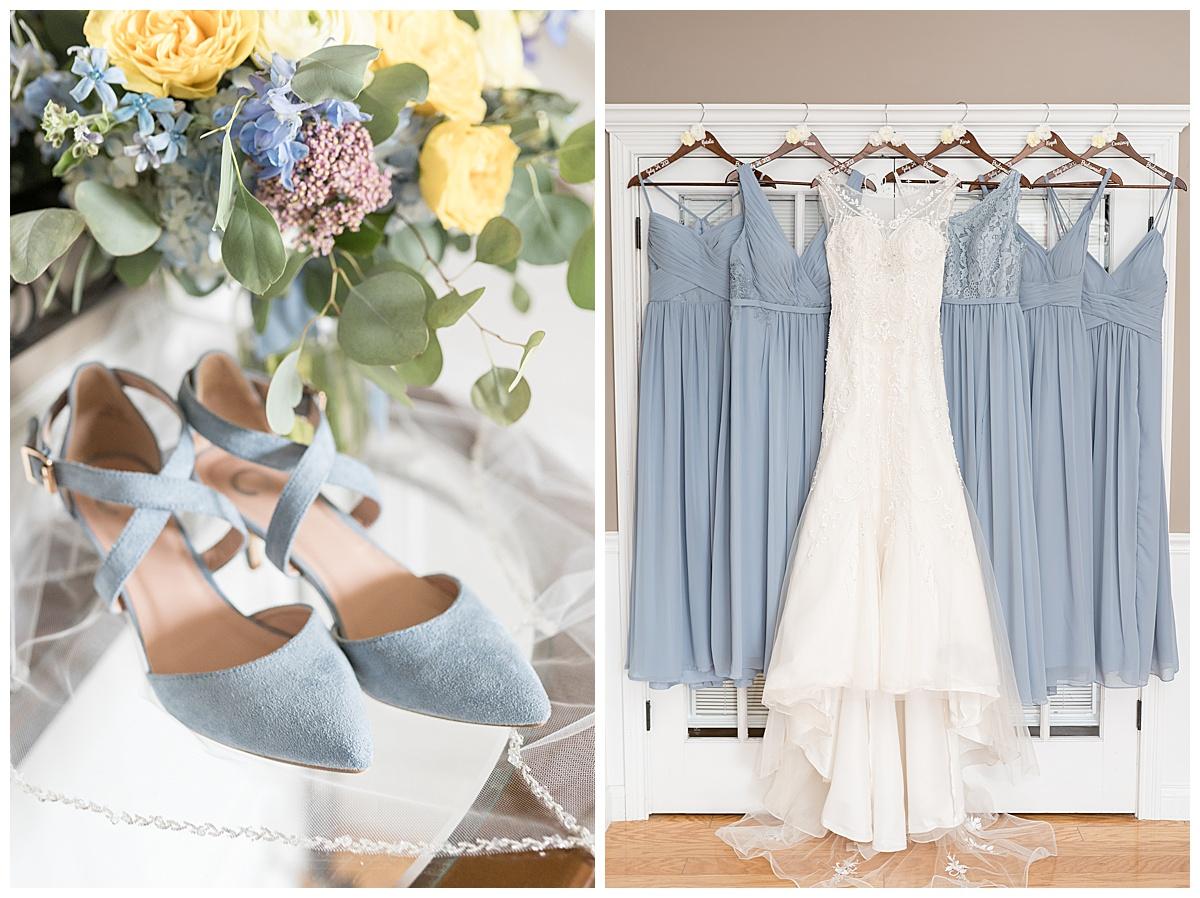 Bridal details of Gathering Acres wedding in Lafayette, Indiana