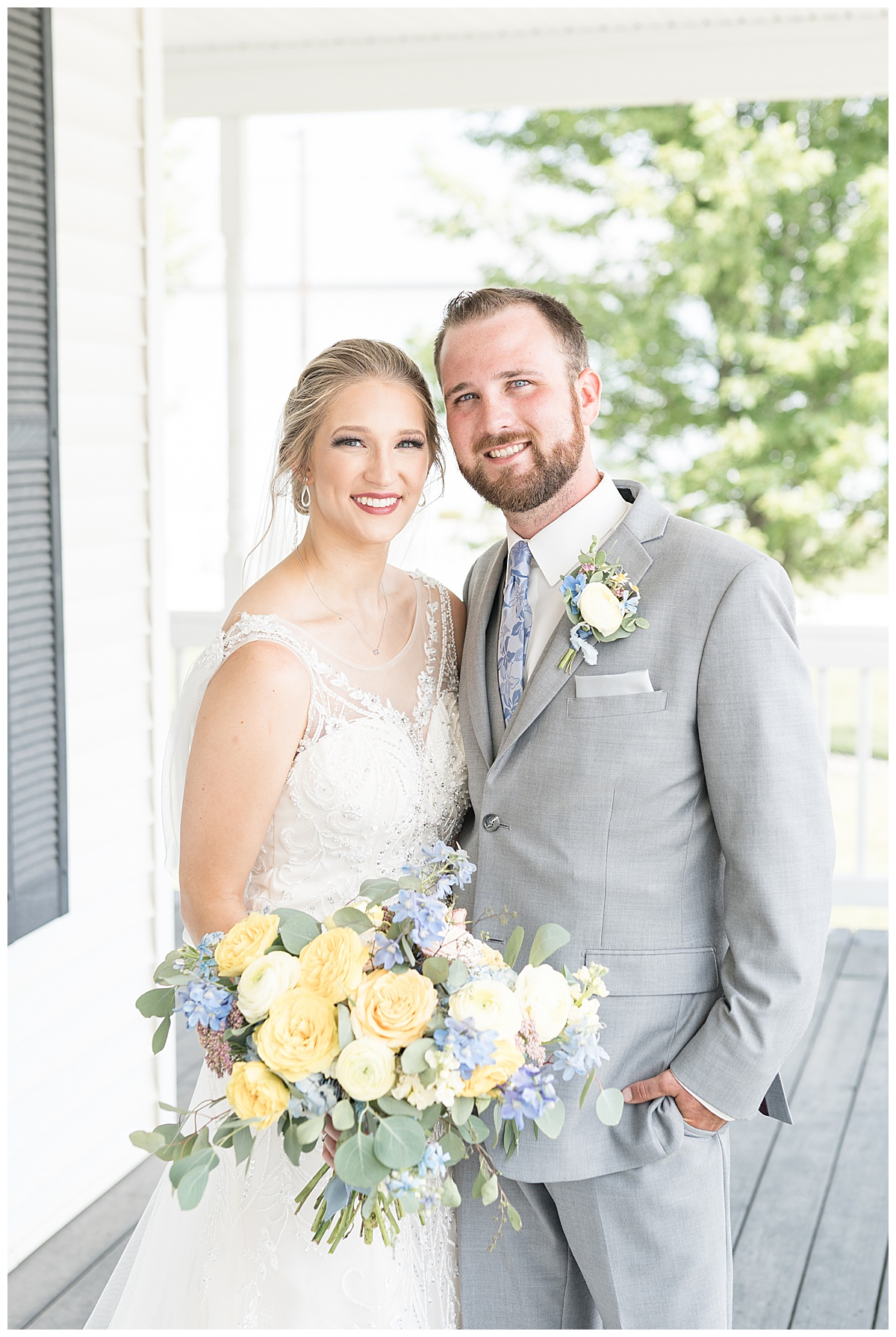 Bride and groom photos at Exploration Acres wedding in Lafayette, Indiana