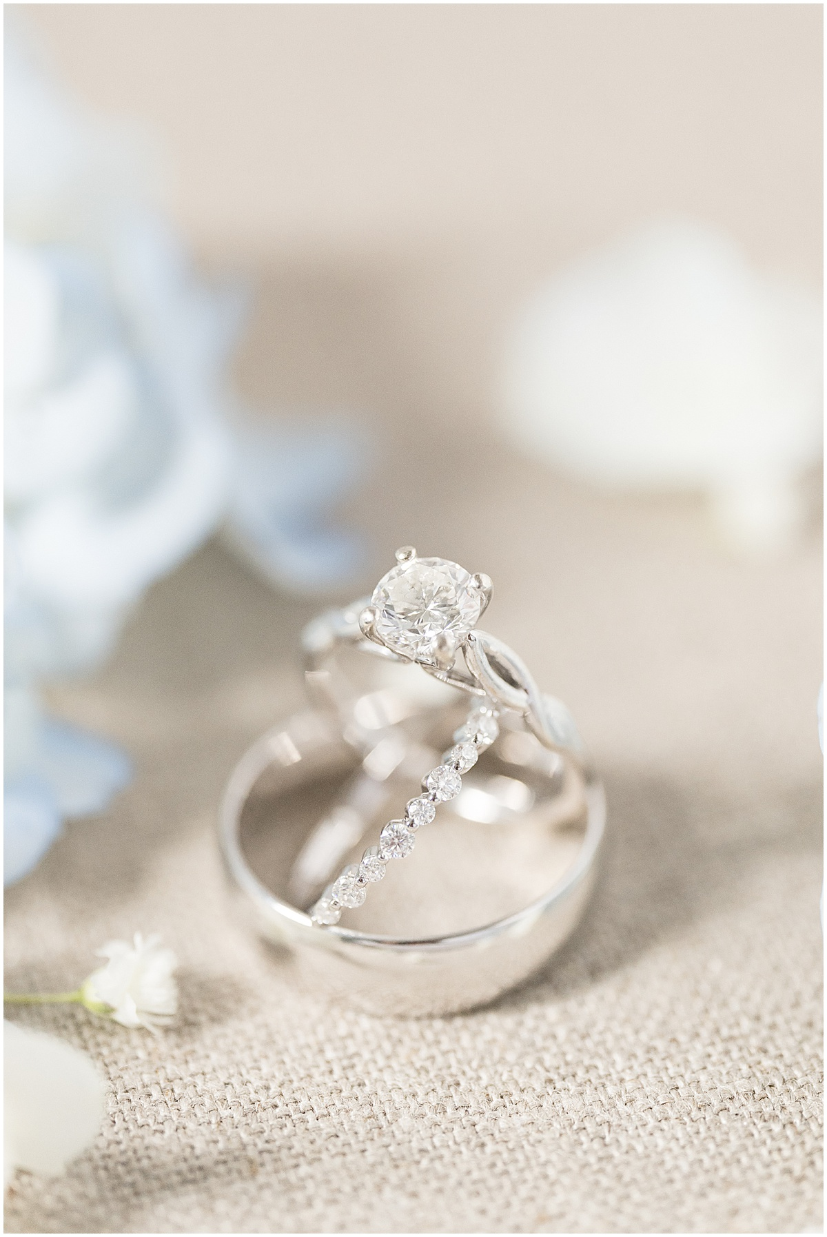 Ring detail photo at Hawk Point Acres Wedding in Anderson, Indiana