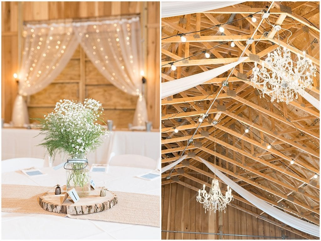 Reception photos at Hawk Point Acres Wedding in Anderson, Indiana