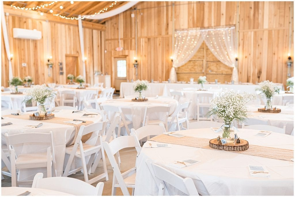 Reception photo at Hawk Point Acres Wedding in Anderson, Indiana
