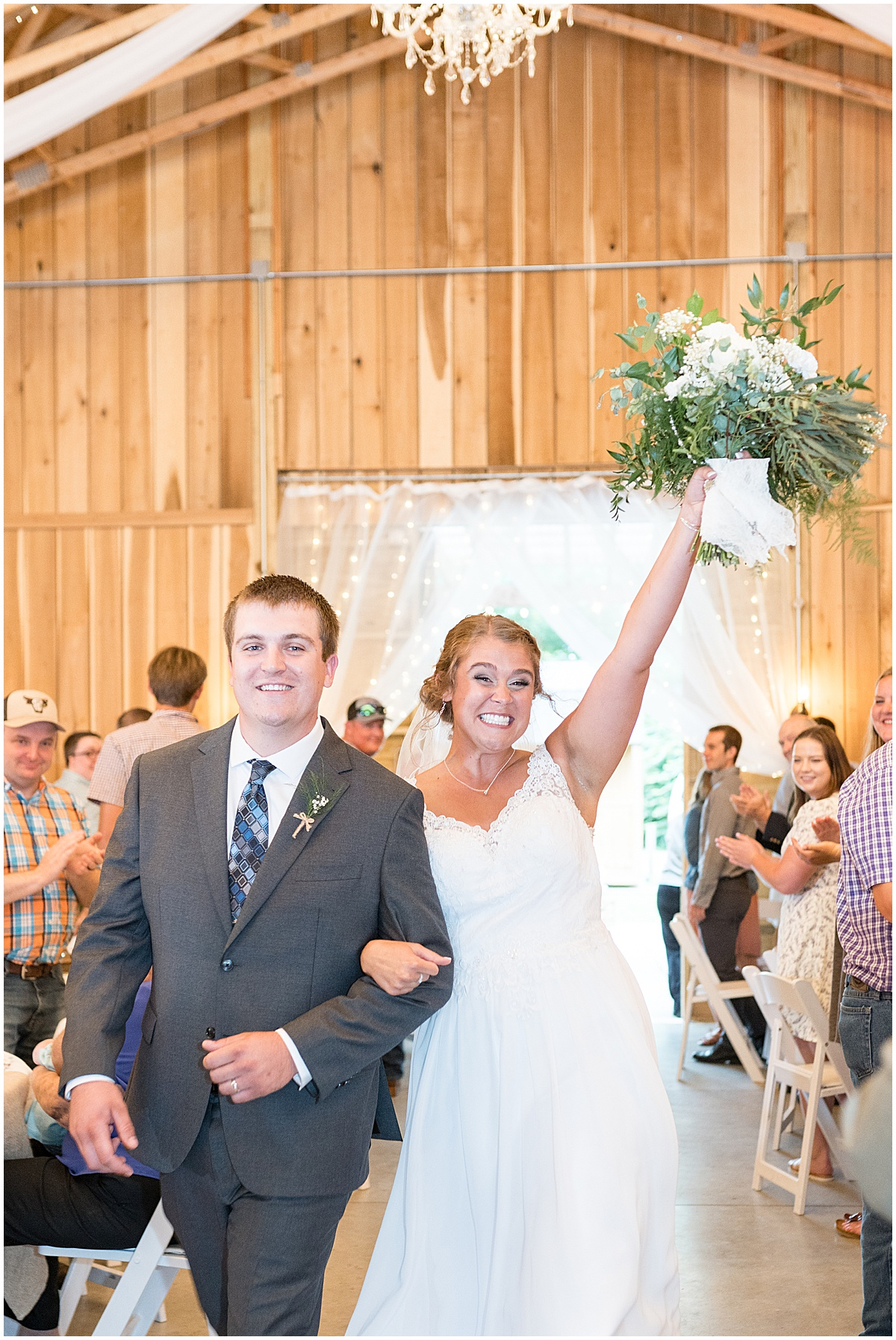 Grand entrance at Hawk Point Acres Wedding in Anderson, Indiana