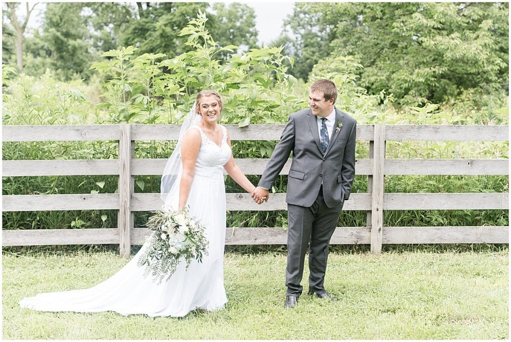 Bride and groom photo at a Hawk Point Acres Wedding in Anderson, Indiana