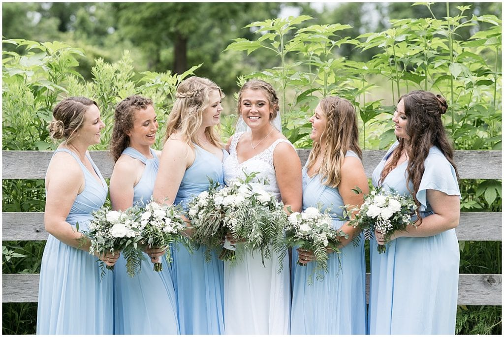 Bridesmaids photo at Hawk Point Acres Wedding in Anderson, Indiana