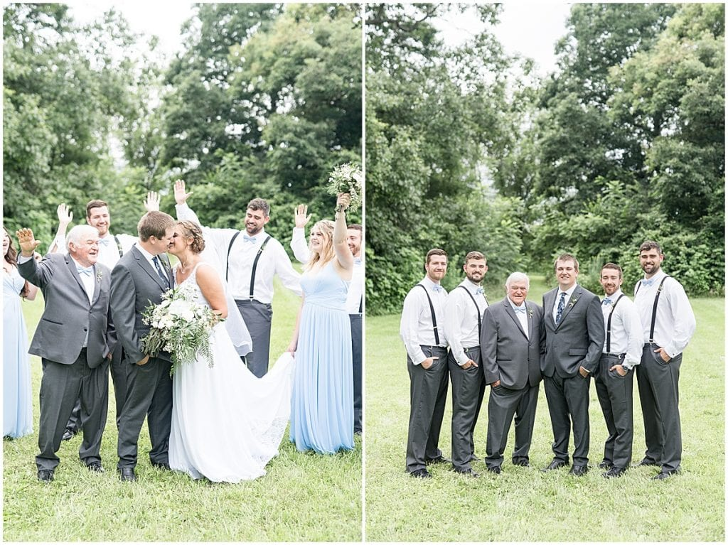 Wedding part photos at Hawk Point Acres Wedding in Anderson, Indiana