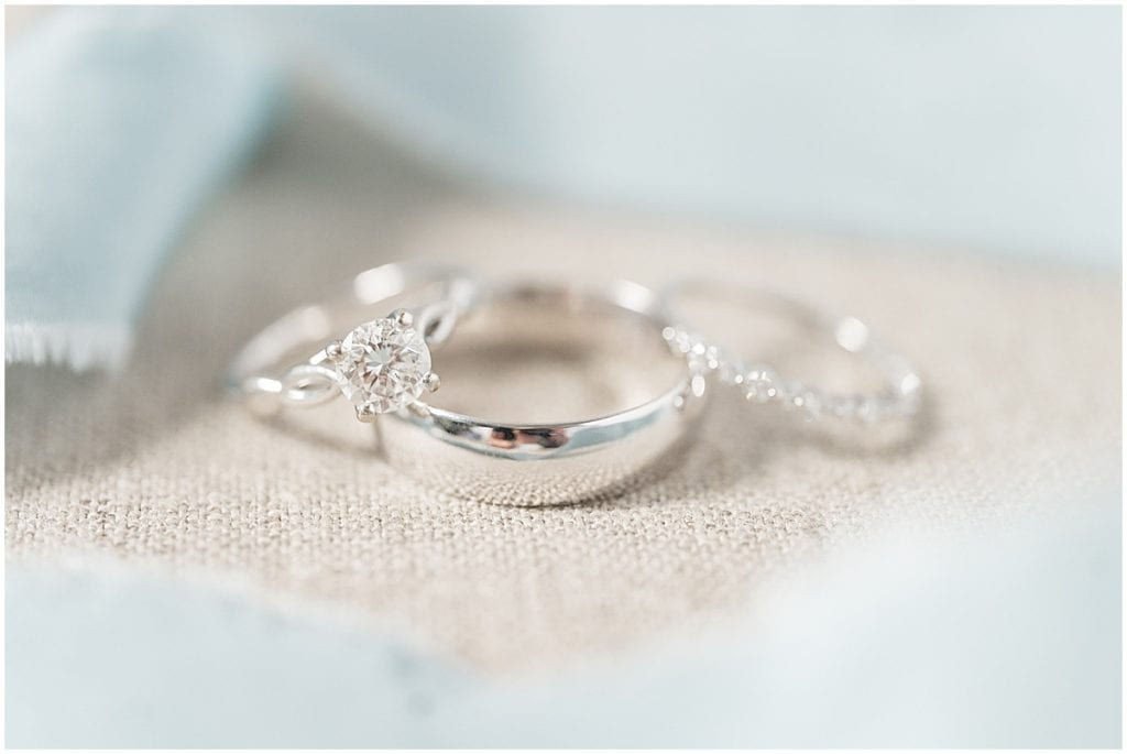 Ring photos at Hawk Point Acres Wedding in Anderson, Indiana