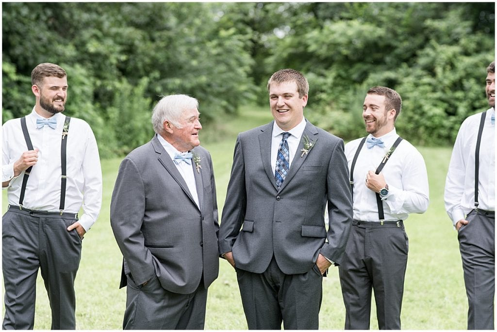 Groomsmen photo at Hawk Point Acres Wedding in Anderson, Indiana