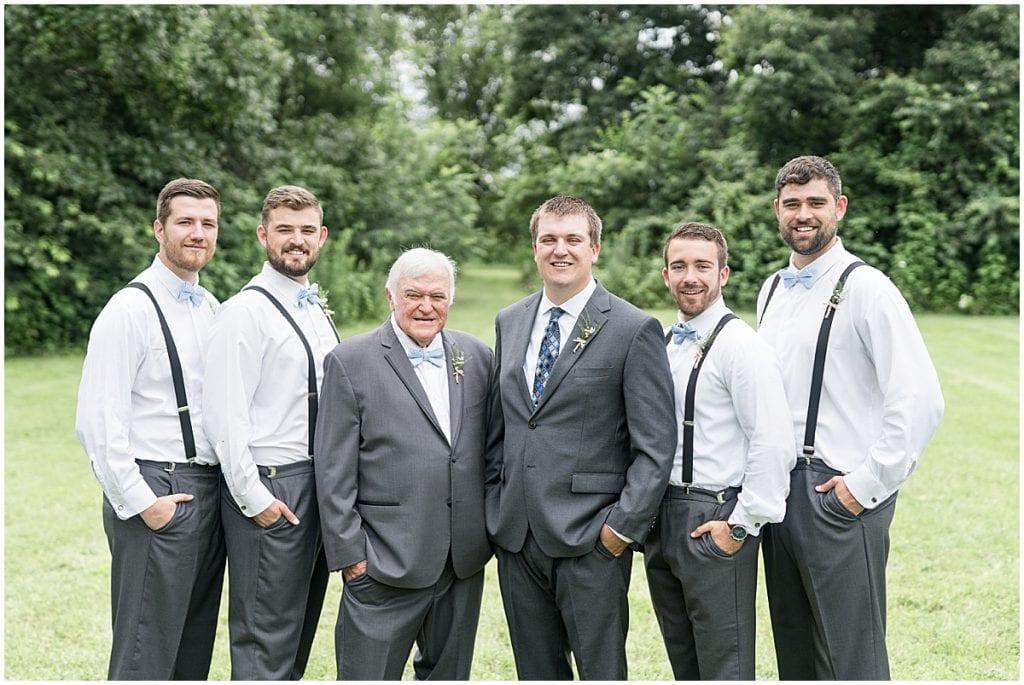 Groomsmen portrait at Hawk Point Acres Wedding in Anderson, Indiana