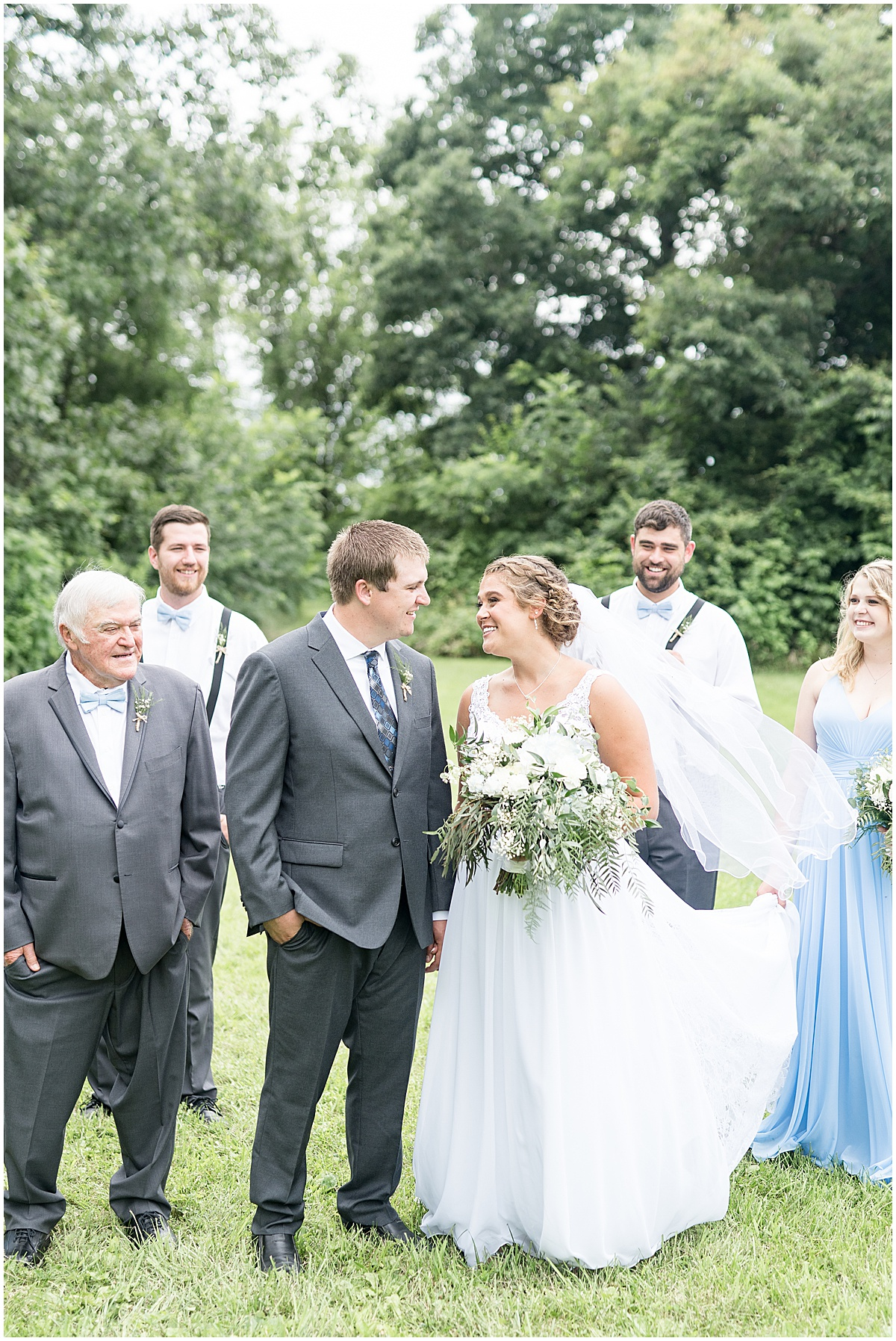 Wedding party photo at Hawk Point Acres Wedding in Anderson, Indiana