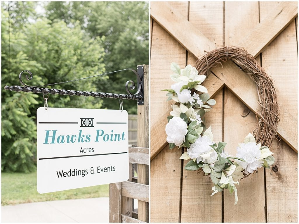 Detail photos at Hawk Point Acres Wedding in Anderson, Indiana