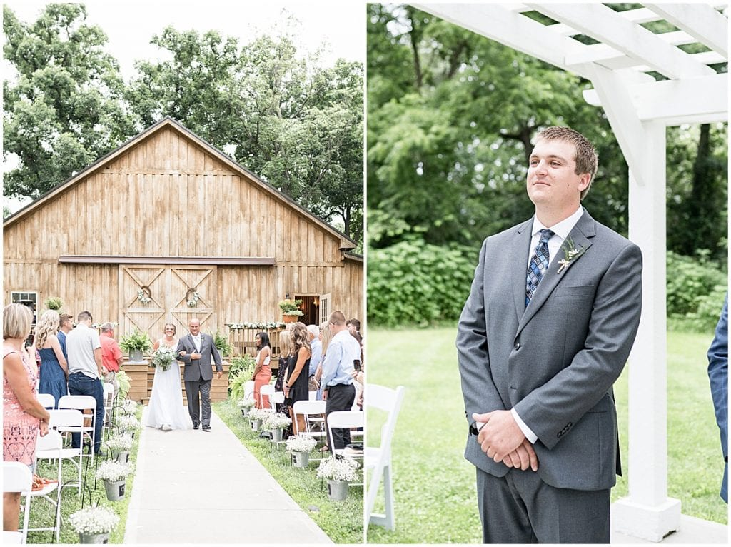 Ceremony photos at Hawk Point Acres Wedding in Anderson, Indiana