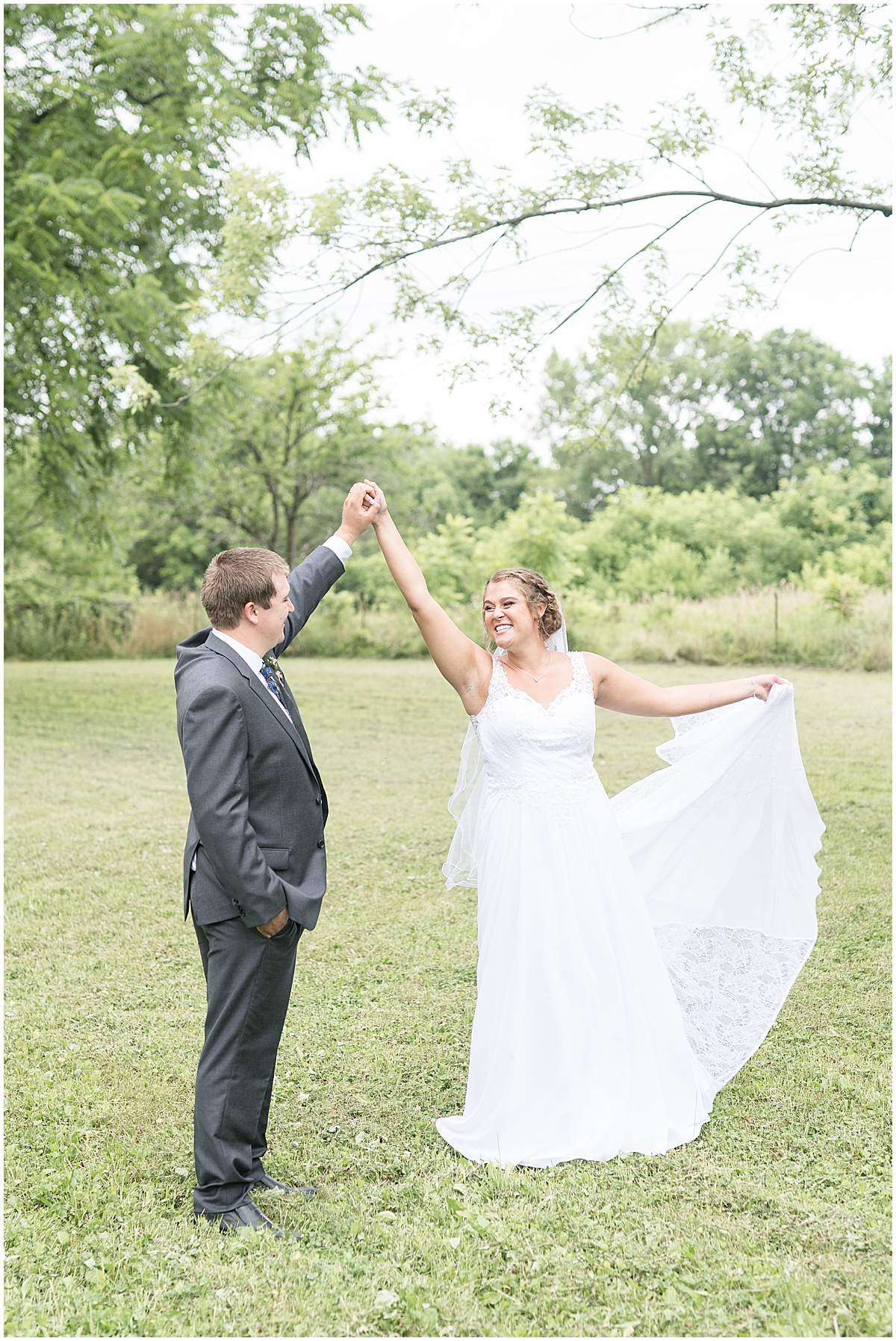 Bride and groom photo at Hawk Point Acres Wedding in Anderson, Indiana