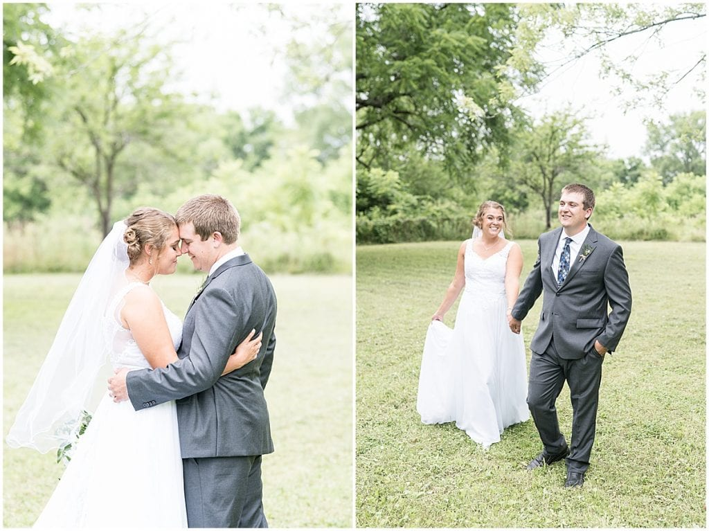 Bride and groom portraits at Hawk Point Acres Wedding in Anderson, Indiana