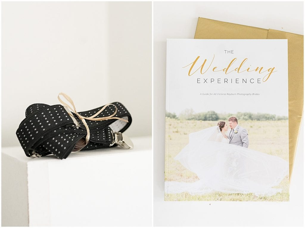 Bridal guide and shirt stays included in Victoria Rayburn Photography's client welcome gift