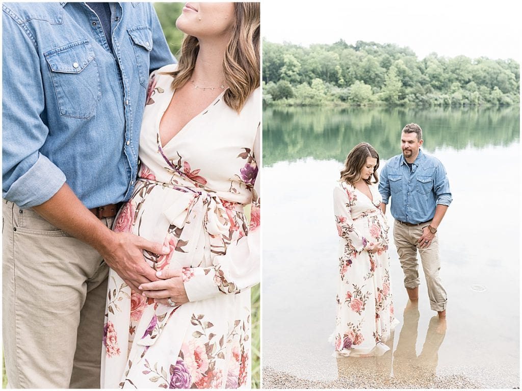 Summer Maternity Photos at Fairfield Lakes Park in Lafayette, Indiana
