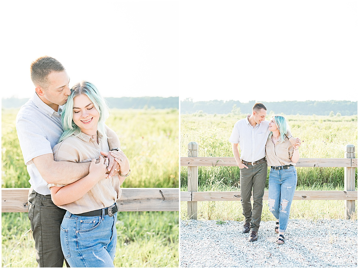Anniversary photos at Strawtown Koteewi Park in Noblesville, Indiana by Indianapolis wedding photographer Victoria Rayburn
