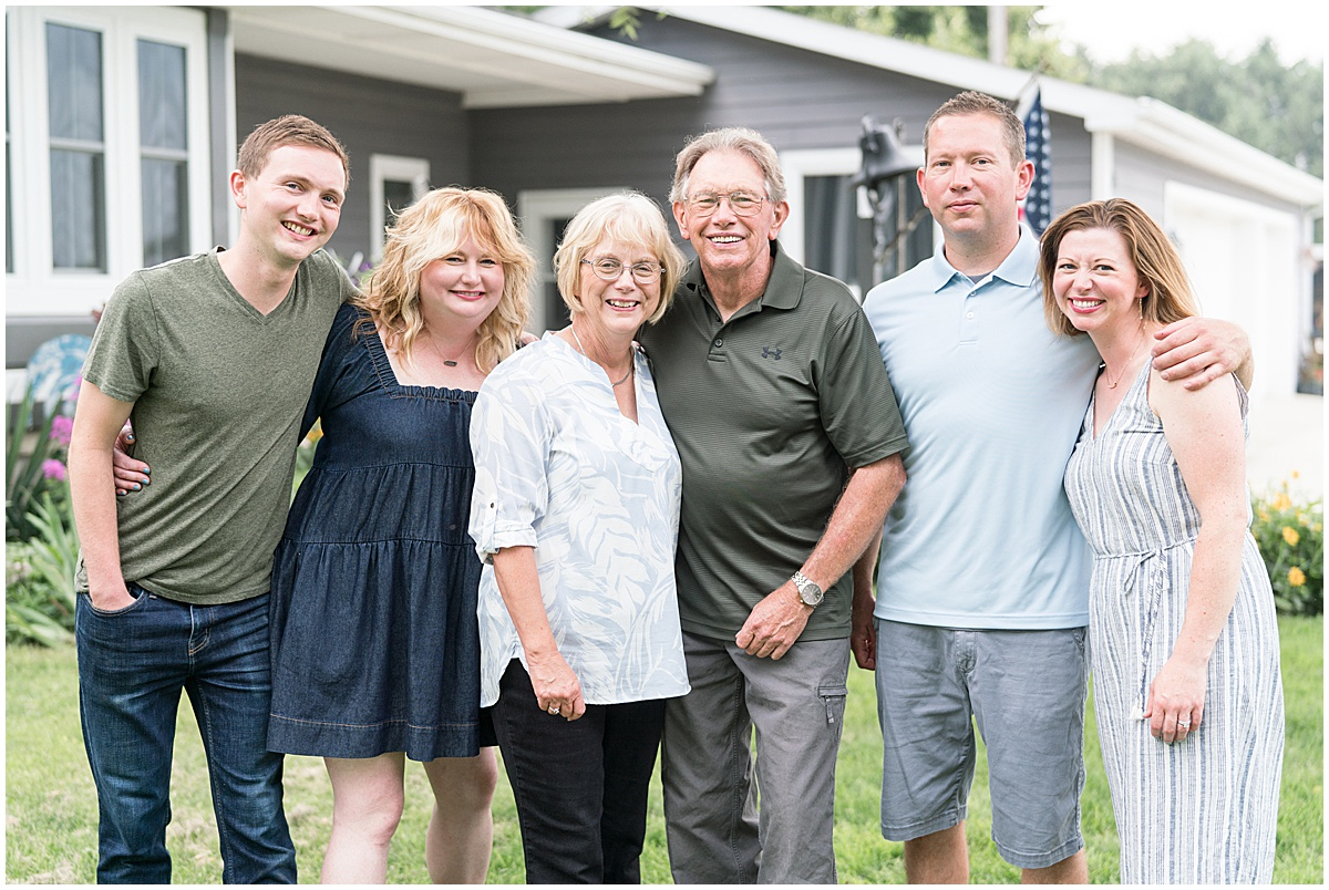 Extended family photos on the farm in Remington, Indiana