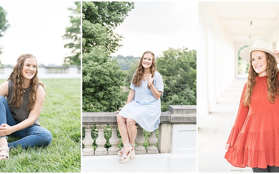 Senior photos at Newfields in Indianapolis