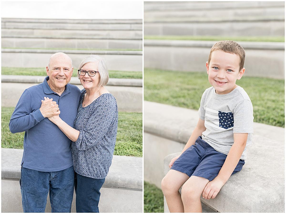 Family photos at Coxhall gardens in Carmel, Indiana