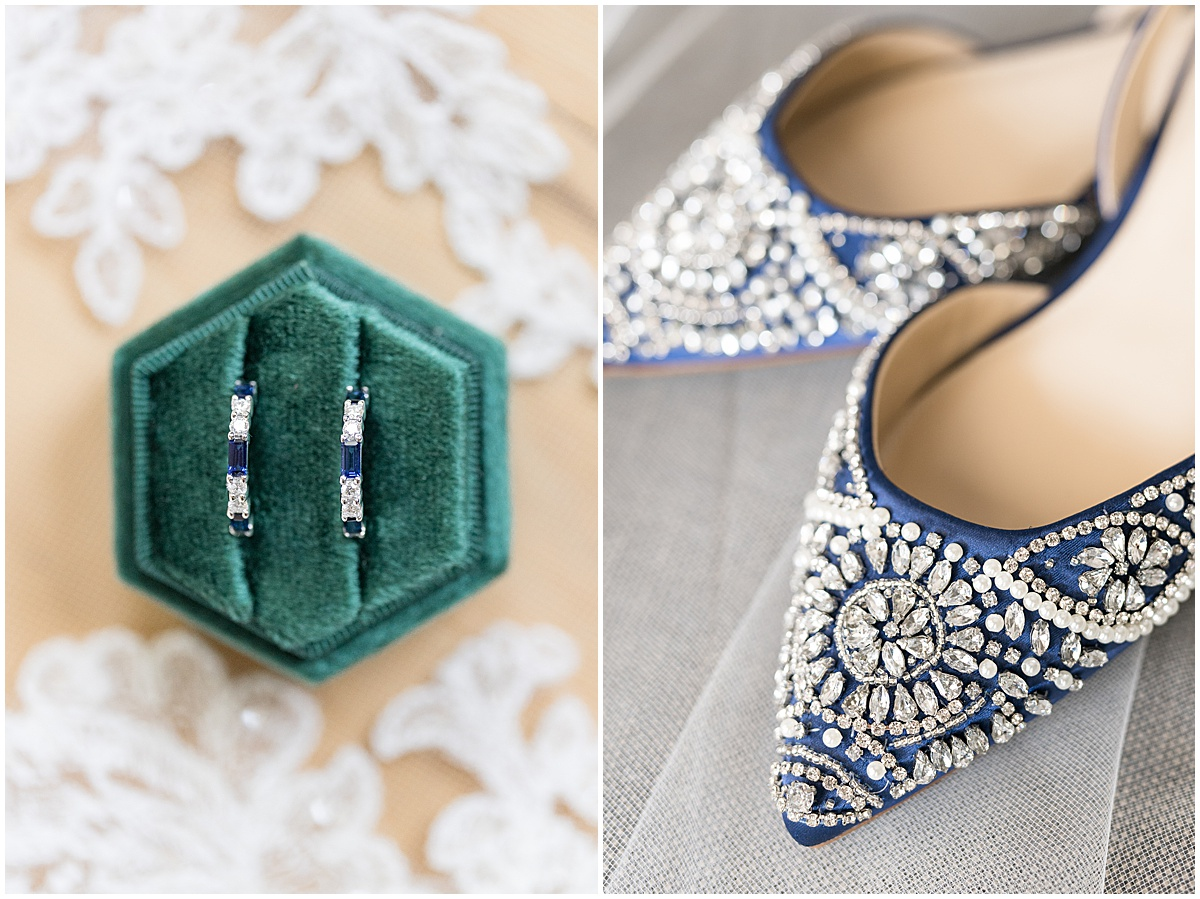 Bridal details for outdoor private property wedding in Frankfort, Indiana by Victoria Rayburn Photography