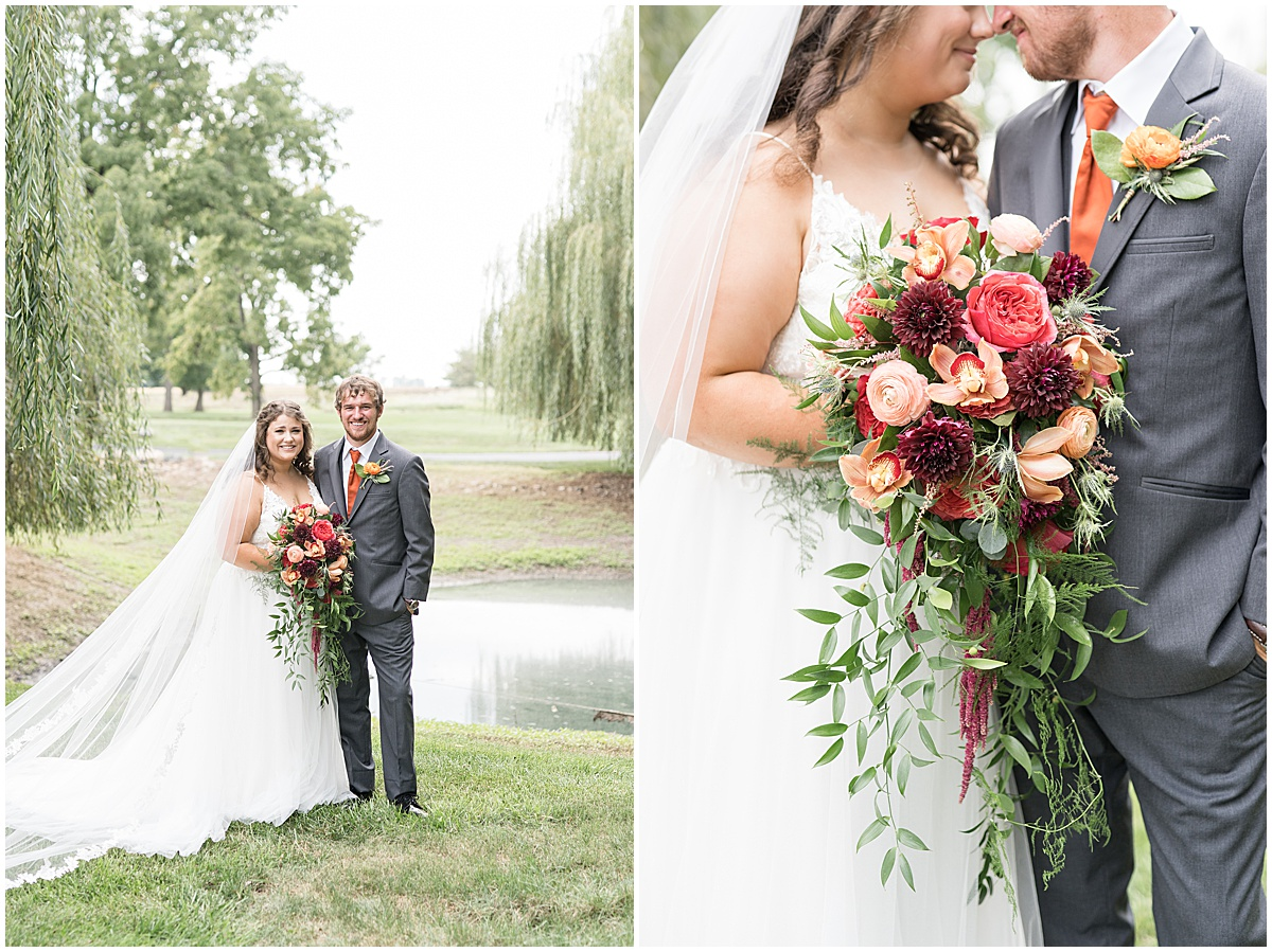 Bride and groom photos at outdoor private property wedding in Frankfort, Indiana by Victoria Rayburn Photography