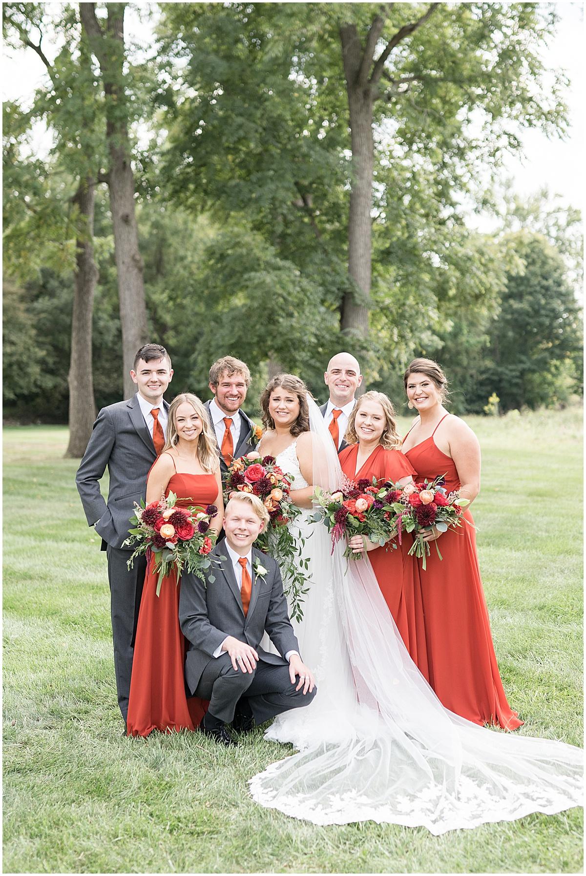 Bridal party photos at