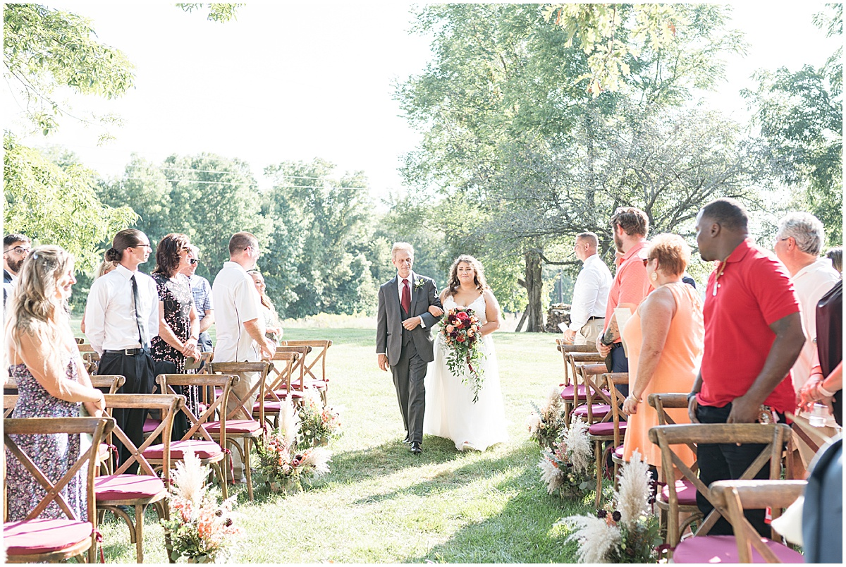 Outdoor private property wedding in Frankfort, Indiana by Victoria Rayburn Photography