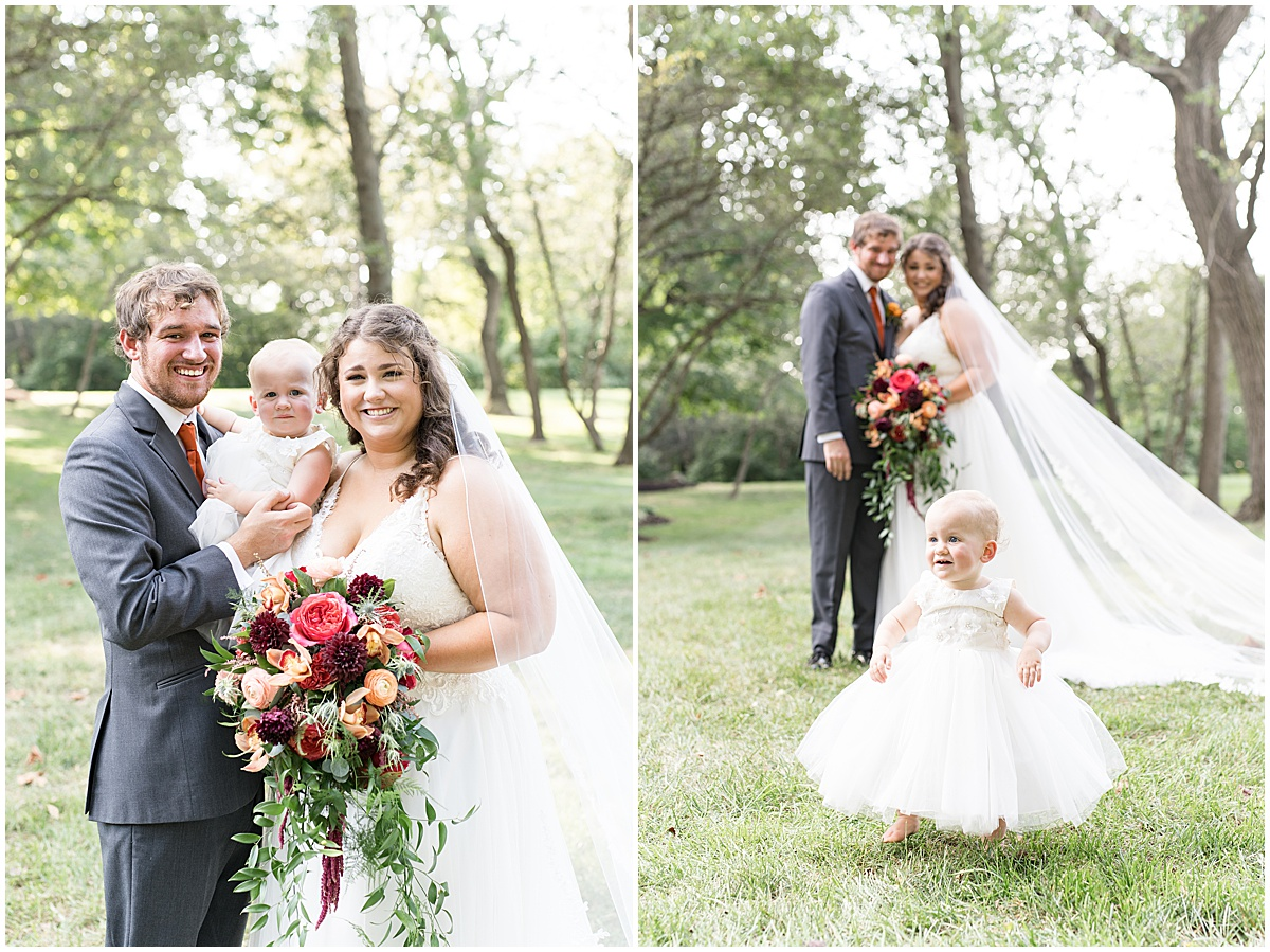 Photos with daughter at outdoor private property wedding in Frankfort, Indiana by Victoria Rayburn Photography