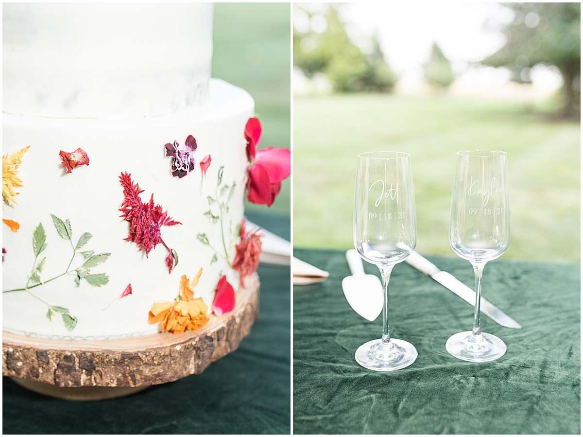 Details of outdoor private property wedding in Frankfort, Indiana planned by Magical Moments Event Planning