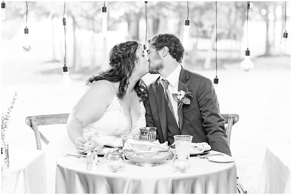 Wedding toasts at outdoor private property wedding in Frankfort, Indiana by Victoria Rayburn Photography