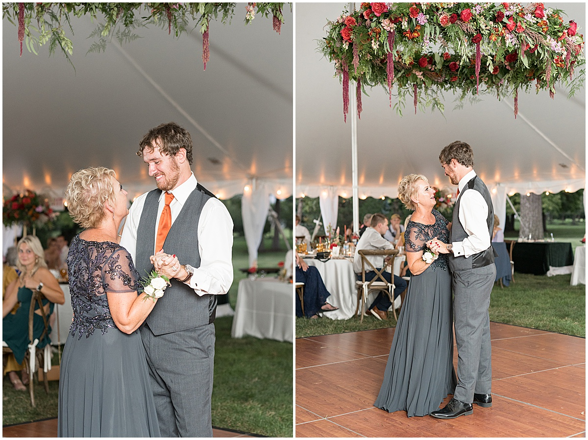 Dancing at outdoor private property wedding in Frankfort, Indiana by Victoria Rayburn Photography