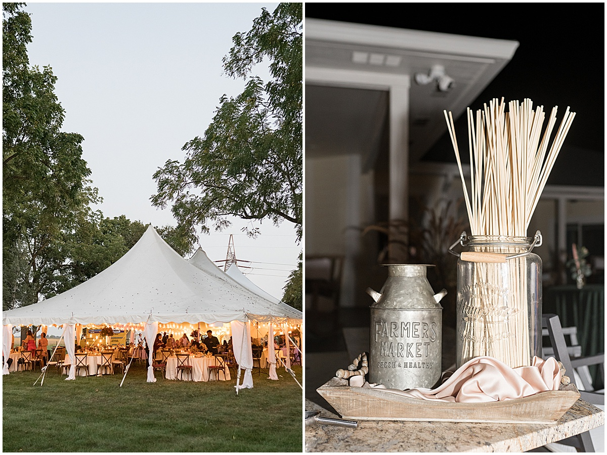 Smores bar at outdoor private property wedding in Frankfort, Indiana planned by Magical Moments Event Planning