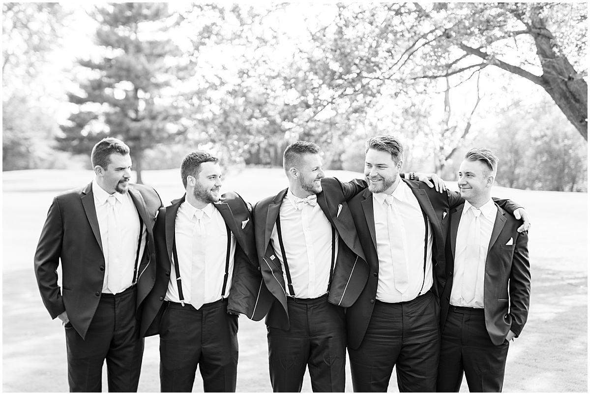 Bridal party photos before wedding at The Edge in Anderson, Indiana