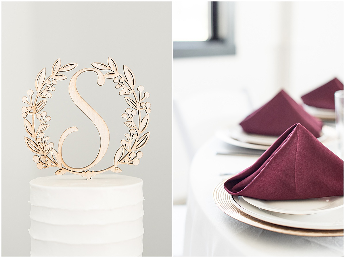 Details of wedding reception at New Journey Farms in Lafayette, Indiana