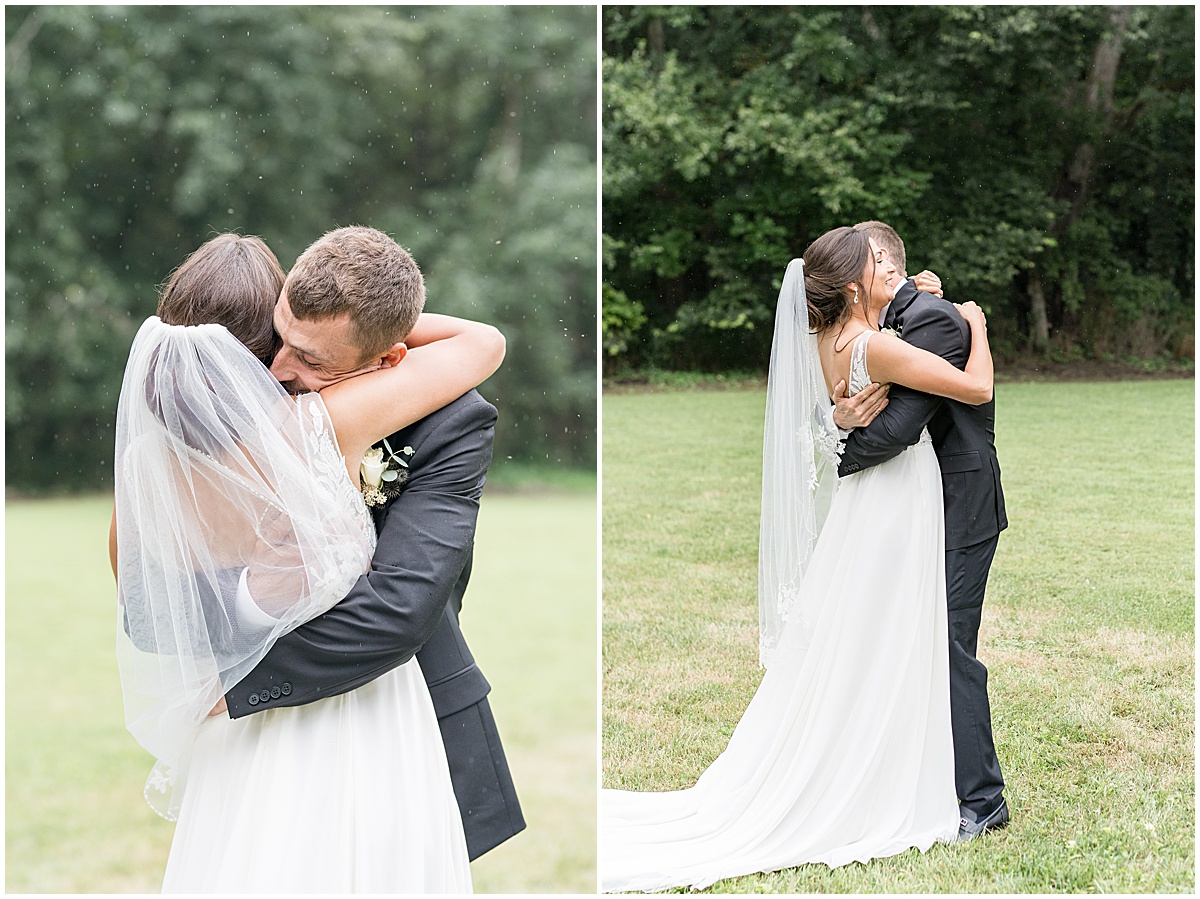 Bride and groom photos at Wildcat Conservation Club wedding in Mulberry, Indiana