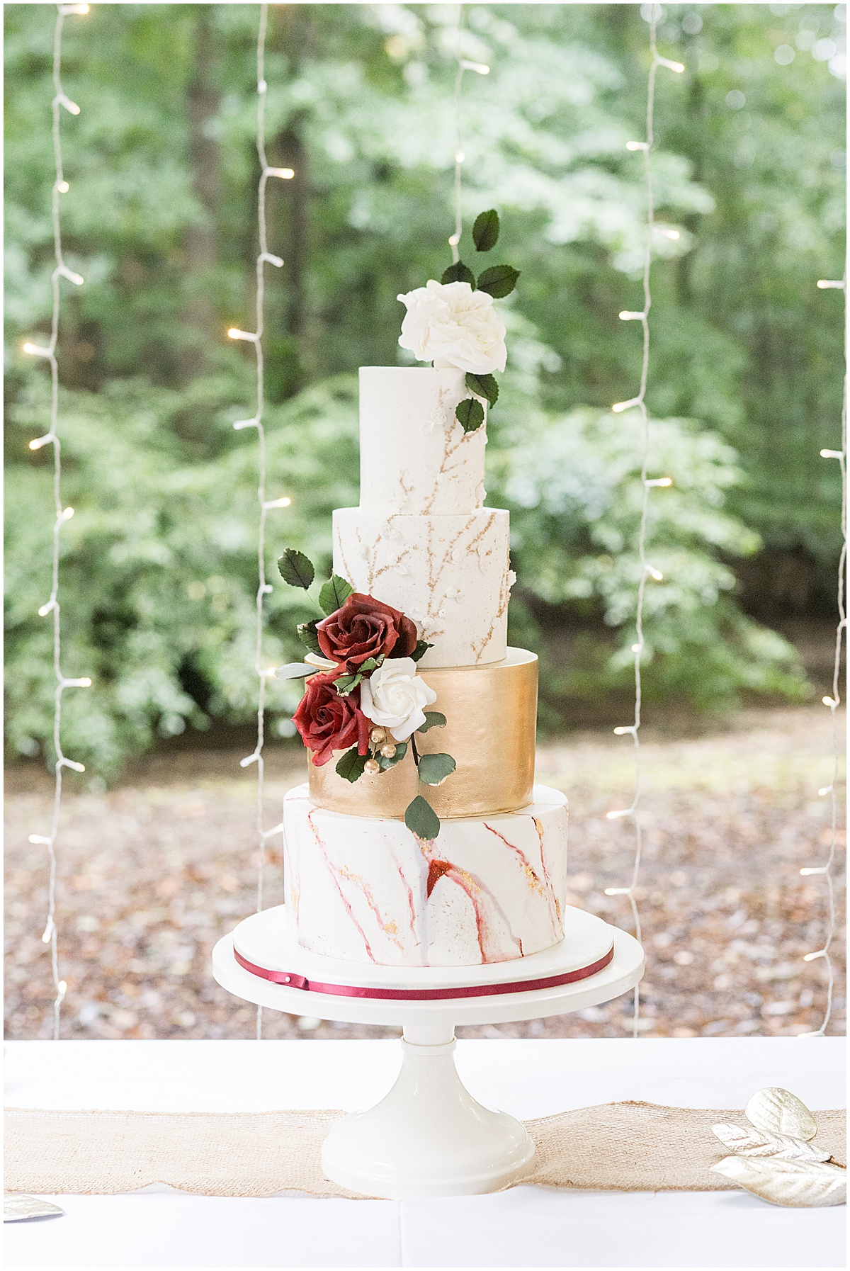 Reception details for Wildcat Conservation Club wedding in Mulberry, Indiana