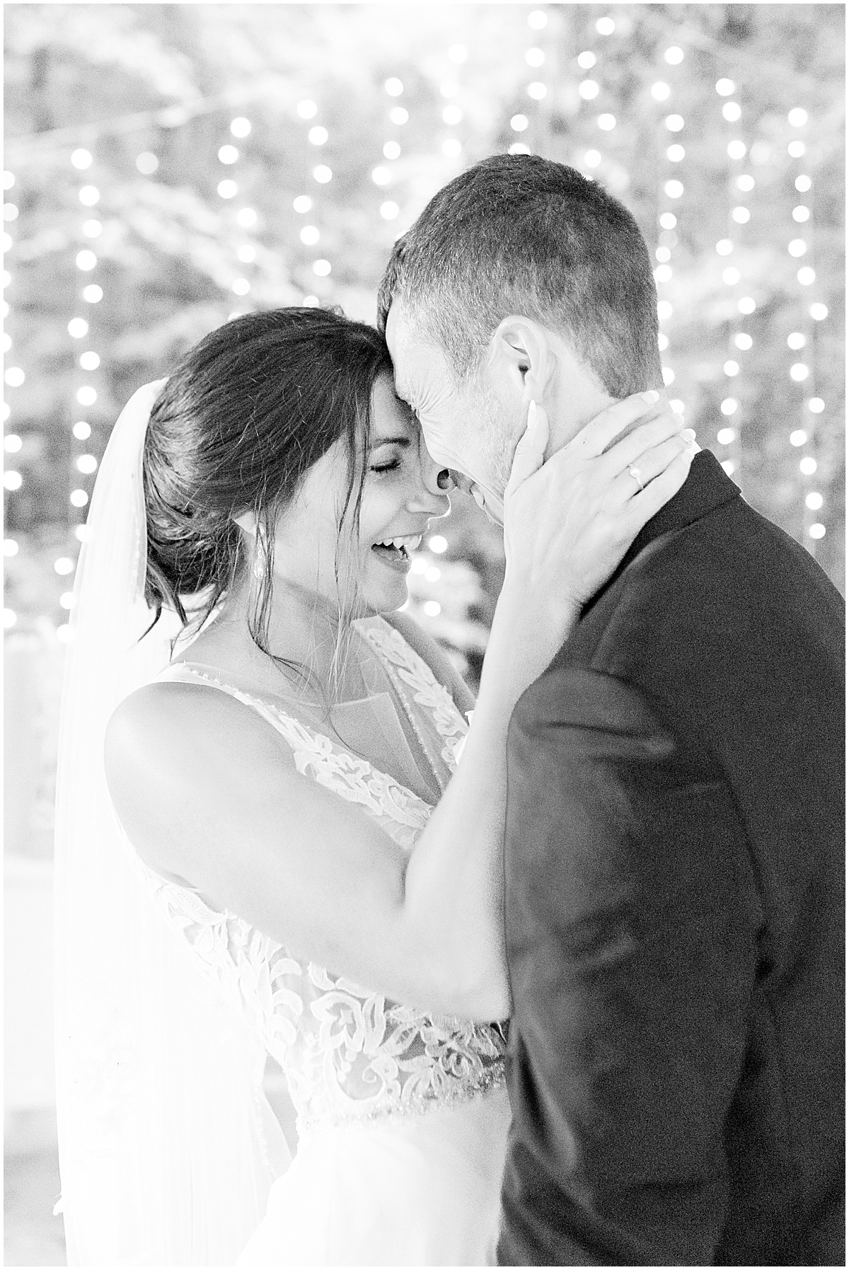 First dance at Wildcat Conservation Club wedding in Mulberry, Indiana